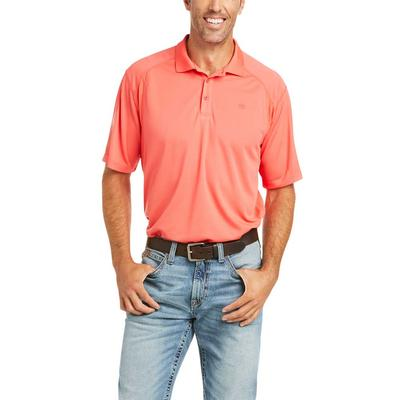 Ariat Men's Short Sleeve Red AC Polo