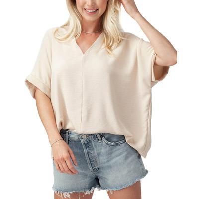 Women's Oversized Folded V-Neck Top