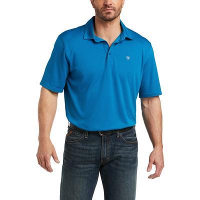 Ariat Men's Ocean Blue GeoTEK Polo