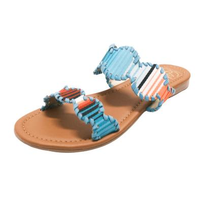 Women's Laced Aztec Printed Sandals