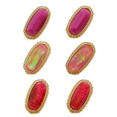 Women's Hexagon Stud Earring set