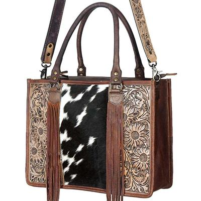 American Darling Tooled Hair-On Fringe Purse