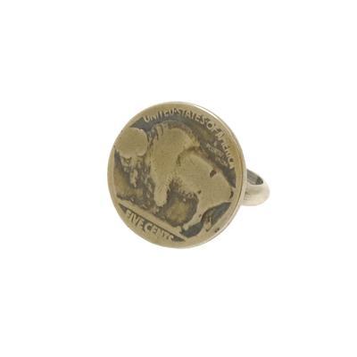 Women's Silver Buffalo Nickle Ring