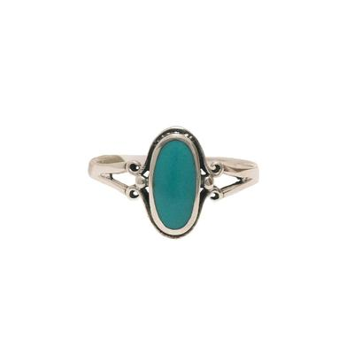 Women's Oval Turquoise Ring
