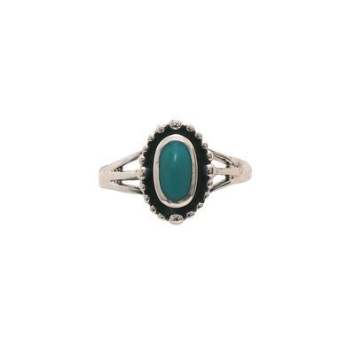 Women's Turquoise Stone Halo Ring