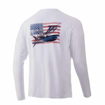 Huk Men's KC Chasin' Flags Pursuit Long Sleeve