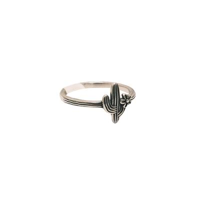 Sterling Silver Classic Cactus Ring
