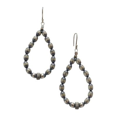Sterling Silver Pearl Teardrop Earrings