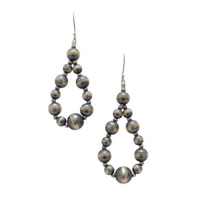 Sterling Silver Multi Pearl Teardrop Earrings