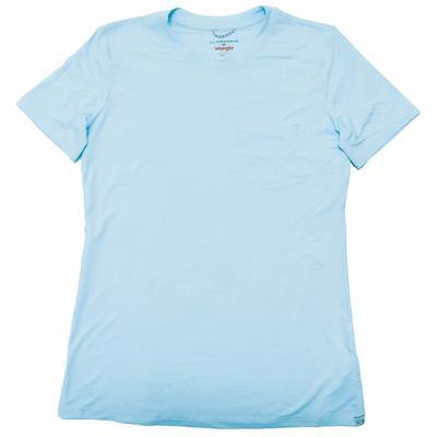 Wrangler Women's Baby Blue Pocket T-Shirt