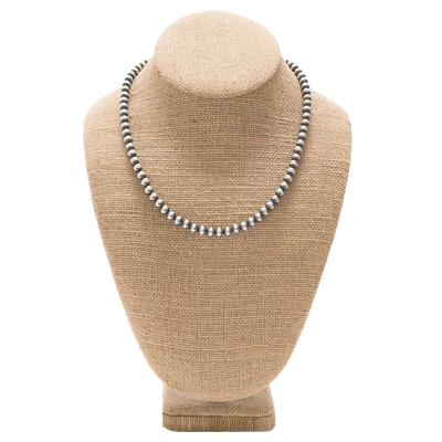 Women's Sterling Silver 18 Inch Pearl Necklace