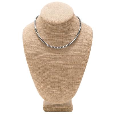 Women's Sterling Silver Small Pearl Necklace