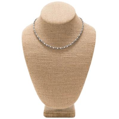 Women's Sterling Silver 16 Inch Pearl and Oval Necklace