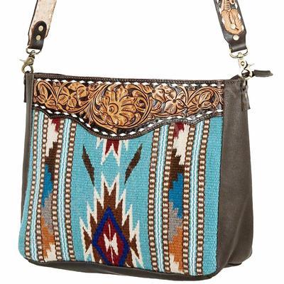 American Darling Large Tooled Saddle Blanket Bag