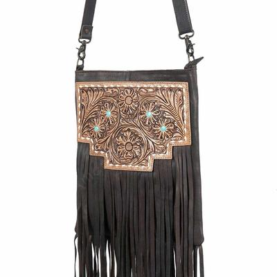 American Darling Tooled Patch Fringe Purse
