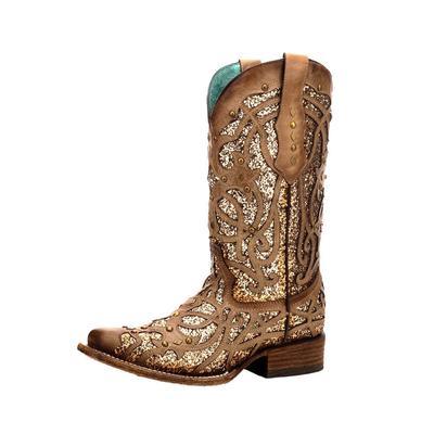 Corral Women's Orix Glitter Inlay Studded Western Boots