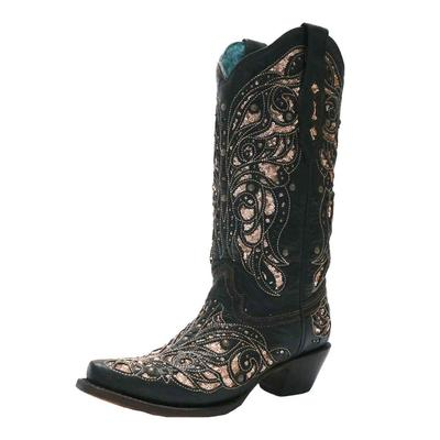 Corral Women's Honey Inlay Embroidered Western Boots