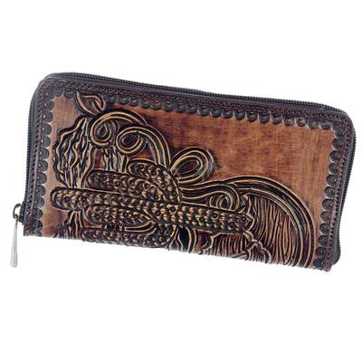 American Darling Tooled Leather Wallet