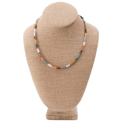 Women's Multi Natural Tube Necklace