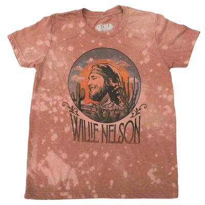 Gina Tees Girl's Willie Nelson T-Shirt