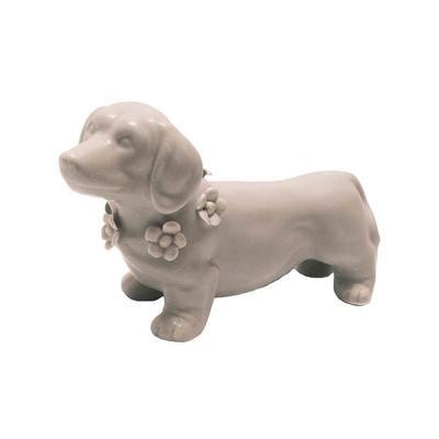 Gray Dachshund Ceramic Figurine