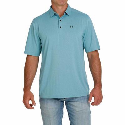 Cinch Men's Arenaflex Turquoise Polo