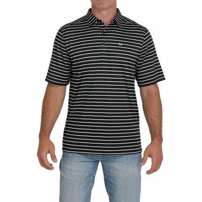 Cinch Men's Arenaflex Black Striped Polo