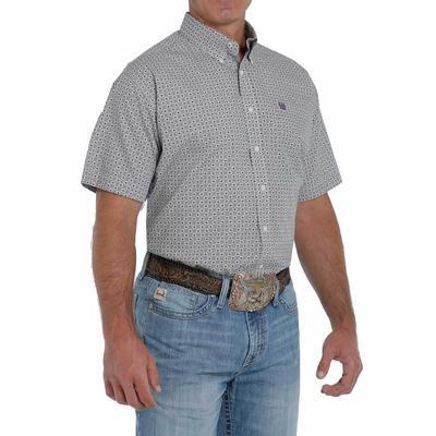 Cinch Men's Printed Short Sleeve Button Down