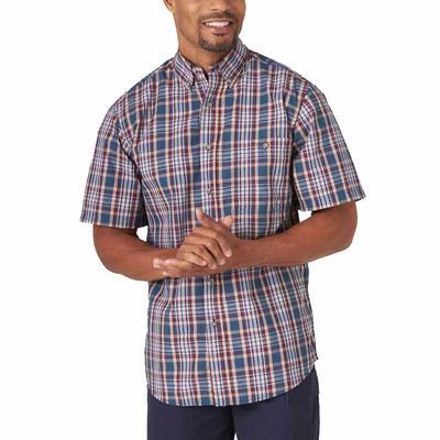 Wrangler Men's Short Sleeve Wrinkle Resistant Button Down
