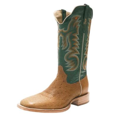R. Watson Men's Antique Smooth Ostrich Western Boots