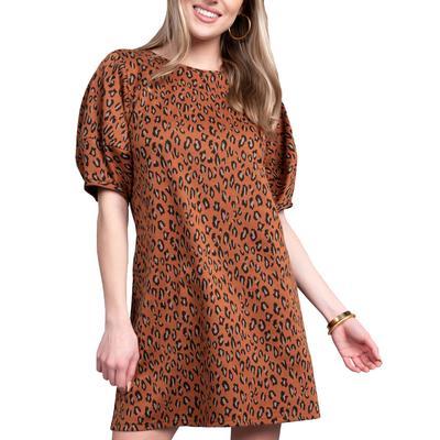 Uncle Frank Women's Leopard Print Swing Dress