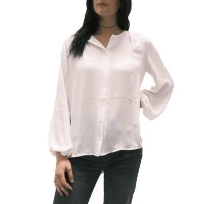 Jade Women's White Button-Down Swing Top
