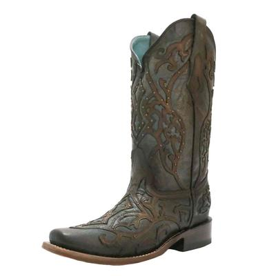 Corral Women's Brown Embroidered Western Boots