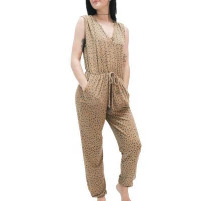 Women's Spotty Check Print Jumpsuit