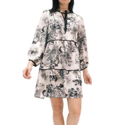 Joy Joy Women's Tiered Babydoll Dress