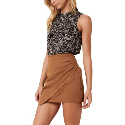 Women's Pleated Wrap Front Skirt