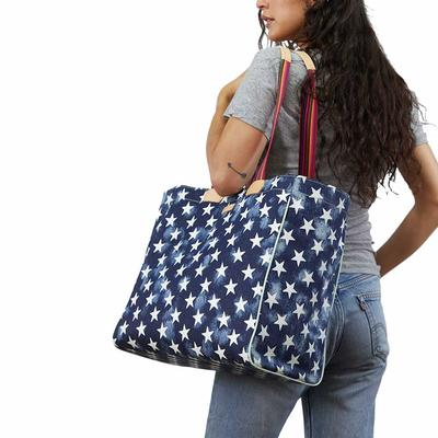 Consuela Checked Out Star Tote