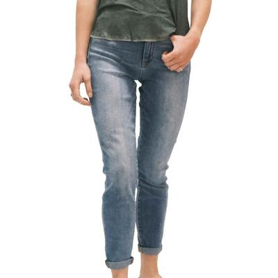 Judy Blue Women's Cropped and Cuffed Skinny Jeans