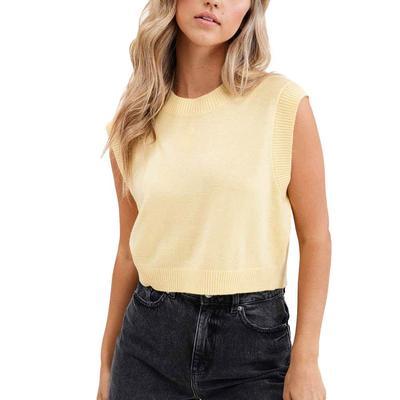 Women's Banana Round Neck Sweater Vest