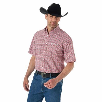 Wrangler Men's George Strait Single Pocket Short Sleeve