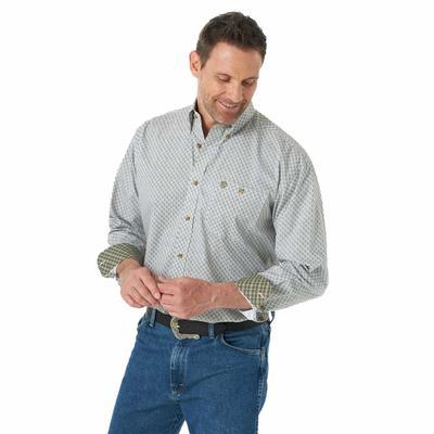 Wrangler Men's George Strait Hazel Printed Button Down