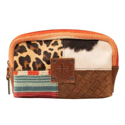 STS Ranchwear Remnants Leather Cosmetic Bag
