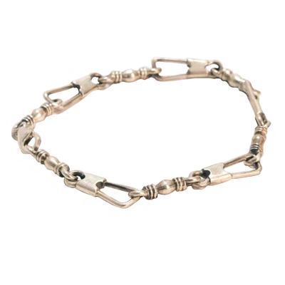 Sterling Silver Paperclip Link Bracelet