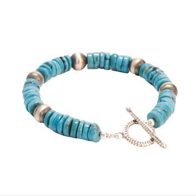 Turquoise Saucer Stonebead Bracelet