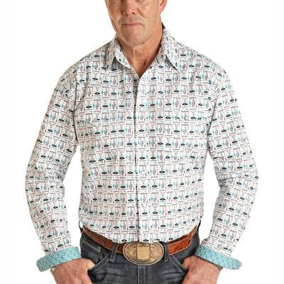 Panhandle Men's Long Sleeve Conversational Snap Shirt