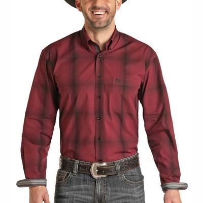 Panhandle Men's Ombre Plaid Button Down