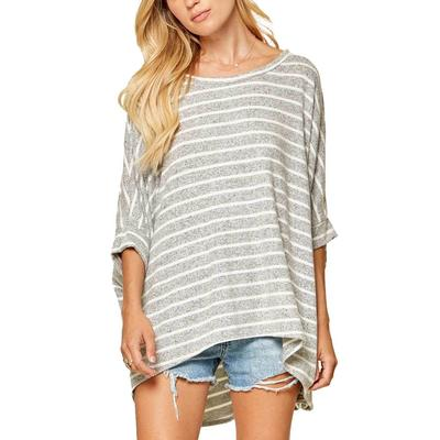 Women's Stripe Knit Oversized Top