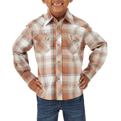 Wrangler Boy's Western Snap Plaid Shirt