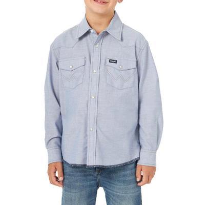Wrangler Boy's Western Snap Work Shirt