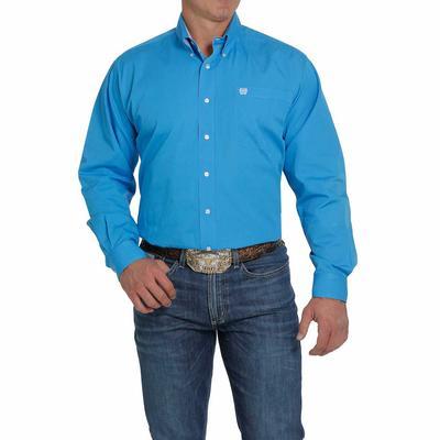 Cinch Men's Solid Bright Blue Button Down